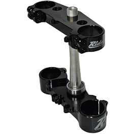 Ride Engineering Billet Clamp Set - 22mm Offset - Black - 2007 Yamaha YZ250F Yoshimura Quiet Insert - RS-4 - 94dB