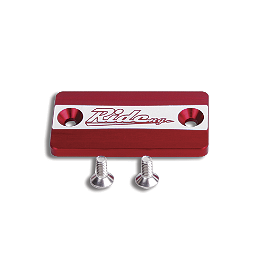 Ride Engineering Front Brake Reservoir Cap - Red - Ride Engineering Oil Filler Plug - Blue