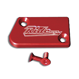 Ride Engineering Front Brake Reservoir Cap - Red - 2008 Yamaha YZ250F Turner Rear Reservoir Cap