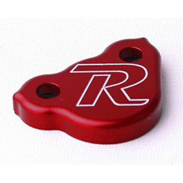 Ride Engineering Rear Brake Reservoir Cap - Red - 2004 Honda CR250 Ride Engineering Oil Filler Plug - Red
