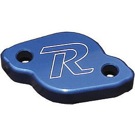 Ride Engineering Rear Brake Reservoir Cap - Blue - Ride Engineering Brake Line Clamp - Blue