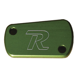 Ride Engineering Rear Brake Reservoir Cap - Green - Ride Engineering Front Wheel Spacers - Green