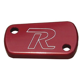 Ride Engineering Rear Brake Reservoir Cap - Red - 2012 Suzuki RMZ450 Ride Engineering Timing Plugs
