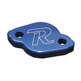 Ride Engineering Rear Brake Reservoir Cap - Blue - 2013 Yamaha YZ250F Ride Engineering Oil Filler Plug - Red