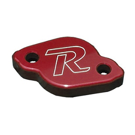 Ride Engineering Rear Brake Reservoir Cap - Red - Ride Engineering Front Wheel Spacers - Red