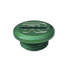Ride Engineering Oil Filler Plug - Green - 2013 Kawasaki KX450F Ride Engineering Timing Plugs
