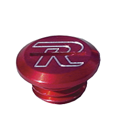 Ride Engineering Oil Filler Plug - Red - 2011 Suzuki RMZ450 Ride Engineering Front Brake Reservoir Cap - Red