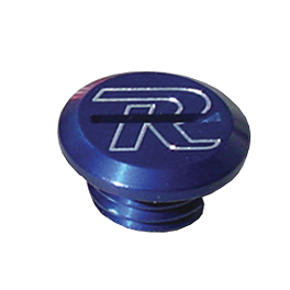 Ride Engineering Oil Filler Plug - Blue - 2011 Suzuki RMZ450 Ride Engineering Front Brake Reservoir Cap - Red