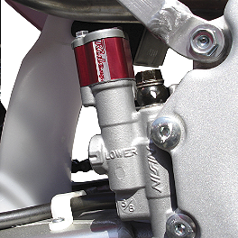 Ride Engineering Rear Brake Line With Master Cylinder Extension - 2009 Yamaha WR450F Ride Engineering Oil Filler Plug - Red