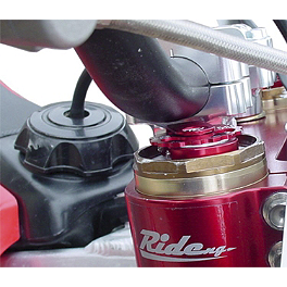 Ride Engineering Bolt-On Compression Adjusters - Red - 2012 Suzuki RMZ450 Turner Fork Bleeder - Showa/Kayaba
