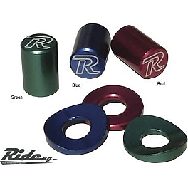 Ride Engineering Valve Cap & Rim Lock Spacers - Ride Engineering Bolt-On Compression Adjusters - Red