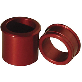 Ride Engineering Front Wheel Spacers - Red - 2004 Honda CRF450R Ride Engineering Timing Plugs