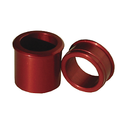Ride Engineering Front Wheel Spacers - Red - 2010 Yamaha YZ450F Ride Engineering Timing Plugs