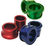Ride Engineering Rear Wheel Spacers - Green - Kawasaki KX125 Dirt Bike Wheel Accessories
