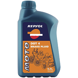 Repsol Moto DOT4 Brake Fluid - 500ml - Repsol 10W40 Moto 4T Sintetico Full Synthetic Oil - 1 Liter
