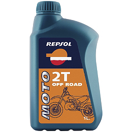 Repsol Moto 2T Off Road 2-Stroke Oil - 1 Liter - Repsol Moto 2T Sintetico Synthetic Blend 2-Stroke Oil - 1 Liter