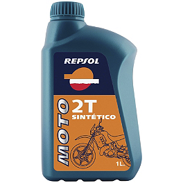 Repsol Moto 2T Sintetico Synthetic Blend 2-Stroke Oil - 1 Liter - Lightning Performance Highway Peg Kit & Floorboards Combo