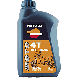 Repsol 10W40 Moto 4T Off Road Full Synthetic Oil - 1 Liter - Repsol 10W40 Moto 4T ATV Full Synthetic Oil - 1 Liter