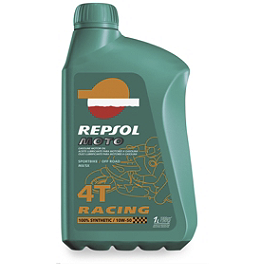 Repsol 10W50 Moto 4T Racing Full Synthetic Oil - 1 Liter - BikeMaster Safety Wire Can - .032