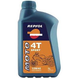Repsol 10W40 Moto 4T Rider Oil - 4 Liter - 2011 Honda Shadow Aero 750 - VT750CA Vesrah Racing Oil Filter