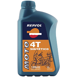 Repsol 10W40 Moto 4T Sintetico Full Synthetic Oil - 1 Liter - Repsol Moto DOT4 Brake Fluid - 500ml