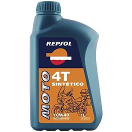 Repsol 10W40 Moto 4T Sintetico Full Synthetic Oil - 4 Liter - Repsol 5W40 Moto 4T Racing Synthetic Blend Oil - 4 Liter