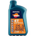 Repsol 10W40 Moto 4T Sintetico Full Synthetic Oil - 4 Liter - Repsol Cruiser Riding Accessories