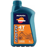 Repsol 10W40 Moto 4T Sport Synthetic Blend Oil - 4 Liter - Repsol Dirt Bike Fluids and Lubricants