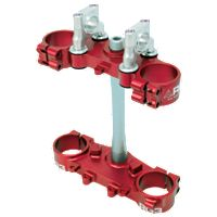 RG3 Gen2 Complete Clamp Set With Steering Stem - Red