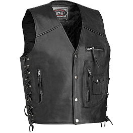 River Road 4-Pocket Vest - Power Trip Powerglide Leather Vest