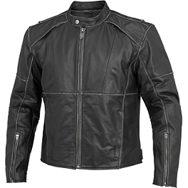River Road Rambler Leather Jacket - River Road Iron Cross Graphix Jacket