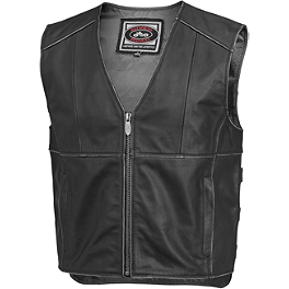 River Road Rambler Leather Vest - REV'IT! Melville Jacket