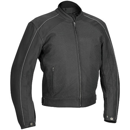 River Road Anvil Perforated Leather Jacket - Main