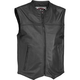 River Road Brute Leather Vest - River Road Grateful Dead Cyclops Vest