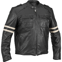 River Road Baron Retro Leather Jacket - River Road Distressed Drifter Jacket