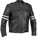River Road Baron Retro Leather Jacket -  Cruiser Jackets and Vests