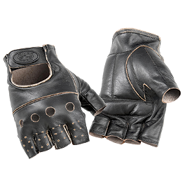 River Road Buster Vintage Shorty Gloves - Biker's Choice Upper Fork Bushings