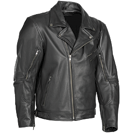 River Road Caliber Leather Jacket - River Road Grateful Dead Skull & Roses Color Jacket