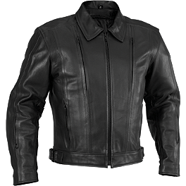 River Road Cruiser Leather Jacket - River Road Anvil Perforated Leather Jacket