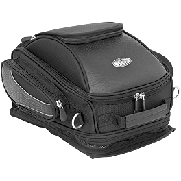 River Road Spectrum Series Cruiser GPS Tank Bag - River Road Ruffian Leather Perforated Vest