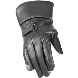 River Road Custer Leather Gloves - River Road Baron Goggles