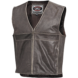 River Road Drifter Leather Vest - REV'IT! Melville Jacket