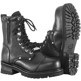 River Road Double Zipper Field Boots - River Road Crossroads Buckle Boots