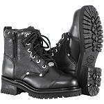 River Road Women's Double Zipper Field Boots - Motorcycle Boots