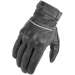 River Road Firestone Leather Gloves - Pokerun Short Leather Gloves