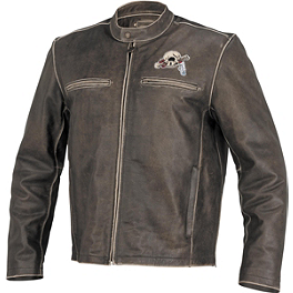 River Road Grateful Dead Cyclops Jacket - AGVSport Element Vintage Leather Jacket