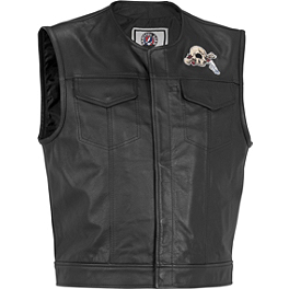River Road Grateful Dead Cyclops Vest - River Road Vandal Leather Vest