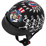 River Road Grateful Dead Helmet - Dancing Skeletons - Motorcycle Half Shell Helmets