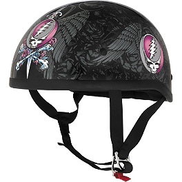 River Road Grateful Dead Helmet - Steal Your Face - River Road Grateful Dead Helmet - Skulls & Roses