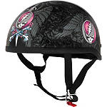 River Road Grateful Dead Helmet - Steal Your Face - Motorcycle Half Shell Helmets
